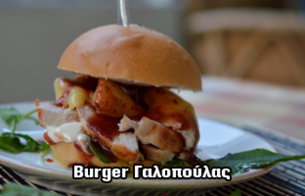 BURGER ΓΑΛΟΠΟΥΛΑΣ ΜΕ CHIPOTLE CRANBERRY SAUCE